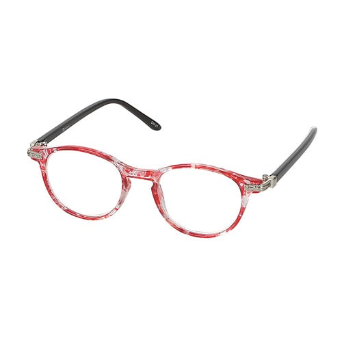 READING GLASSES RED/GUN GRAY 2.0