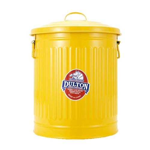 GARBAGE CAN YELLOW-S