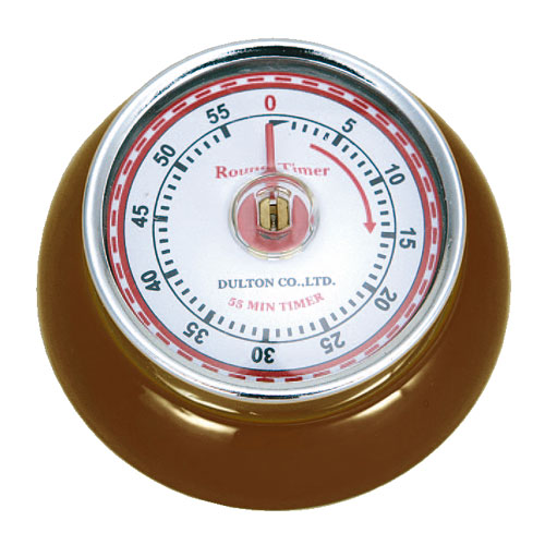 KITCHEN TIMER WITH MAGNET BROWN