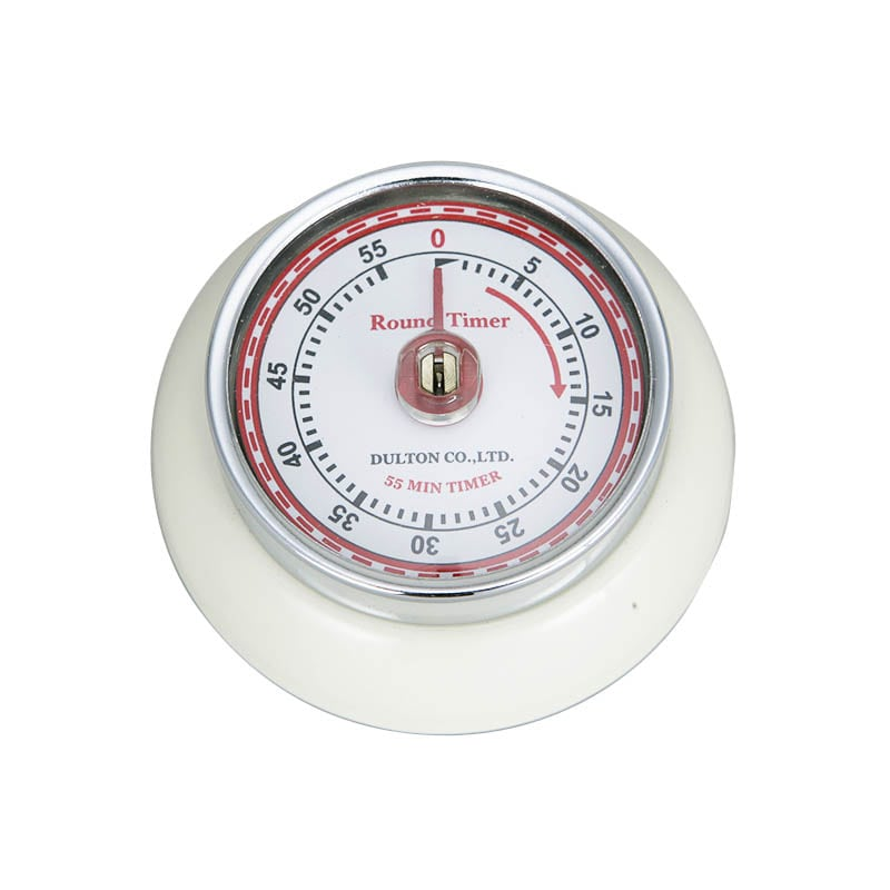 KITCHEN TIMER WITH MAGNET IVORY