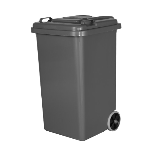 PLASTIC TRASH CAN 65L GRAY