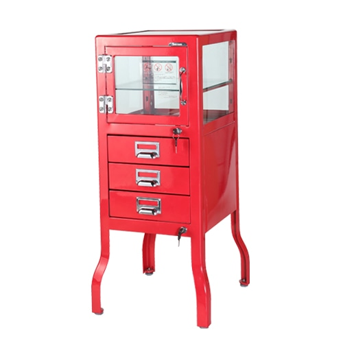 DENTIST CABINET 3 RED