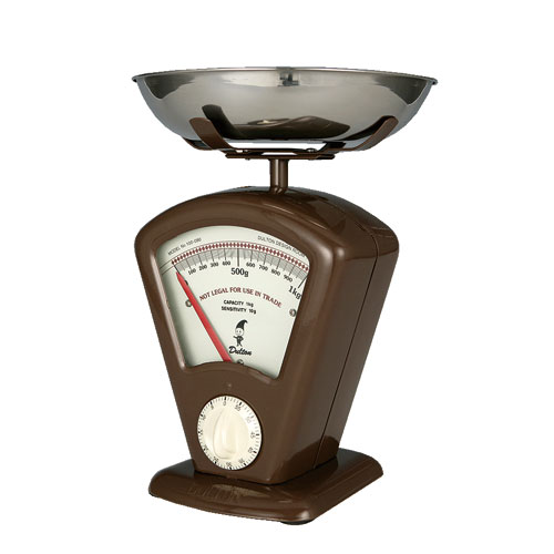 KITCHEN SCALE W/TIMER BRW