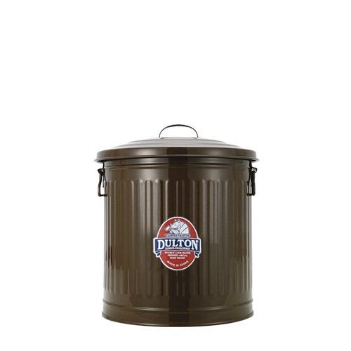 MINI GARBAGE CAN BROWN-L