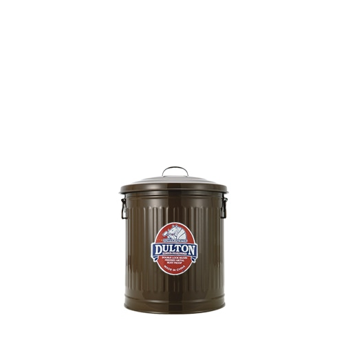 MINI GARBAGE CAN BROWN-S