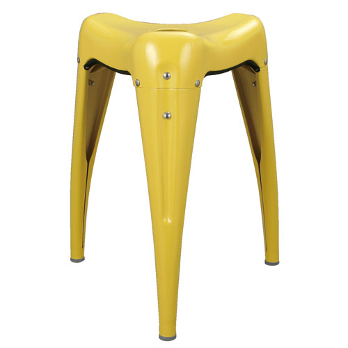 STACKING STOOL ''WISDOM TOOTH'' YELLOW