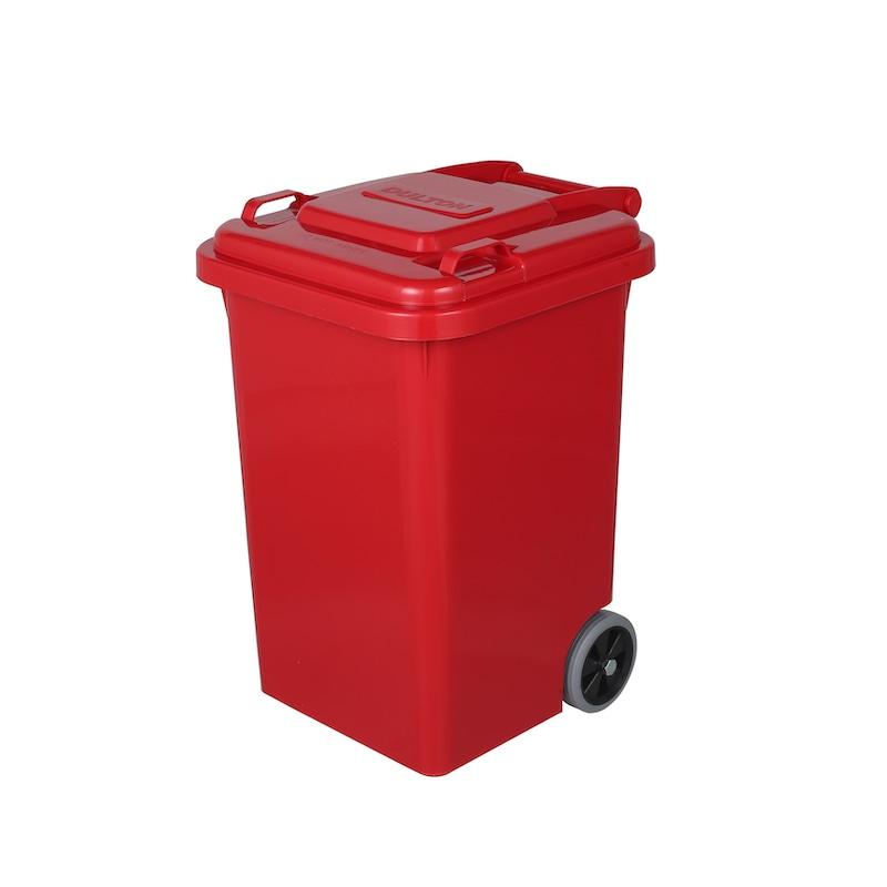 PLASTIC TRASH CAN 45L RED