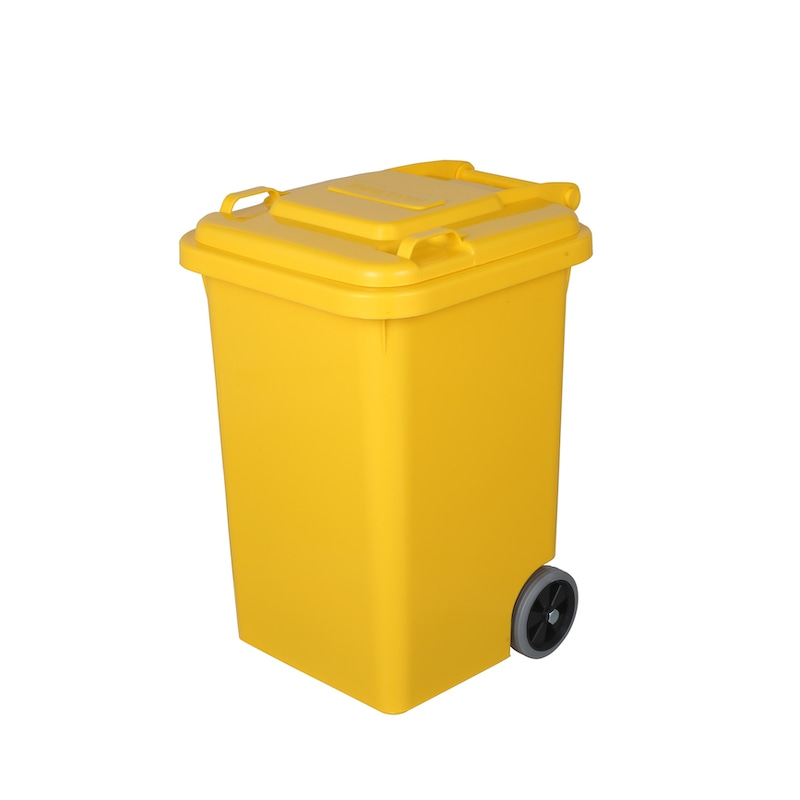 PLASTIC TRASH CAN 45L YELLOW