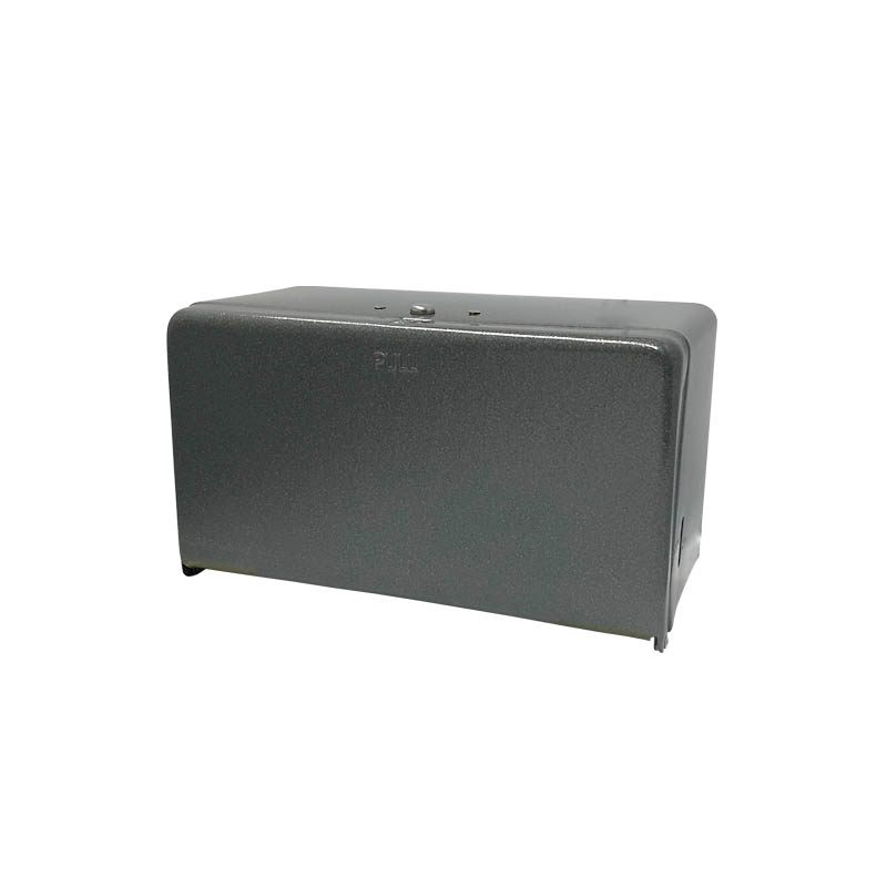TISSUE DISPENSER HAMMERTONE GRAY