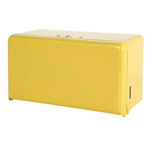 TISSUE DISPENSER YELLOW
