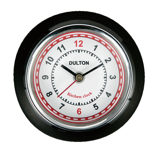 KITCHEN CLOCK BLACK