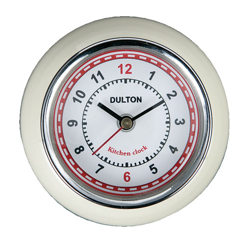 KITCHEN CLOCK IVORY