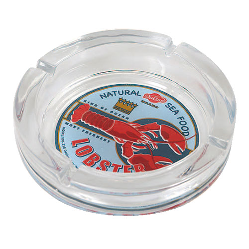 GLASS ASHTRAY-L LOBSTER