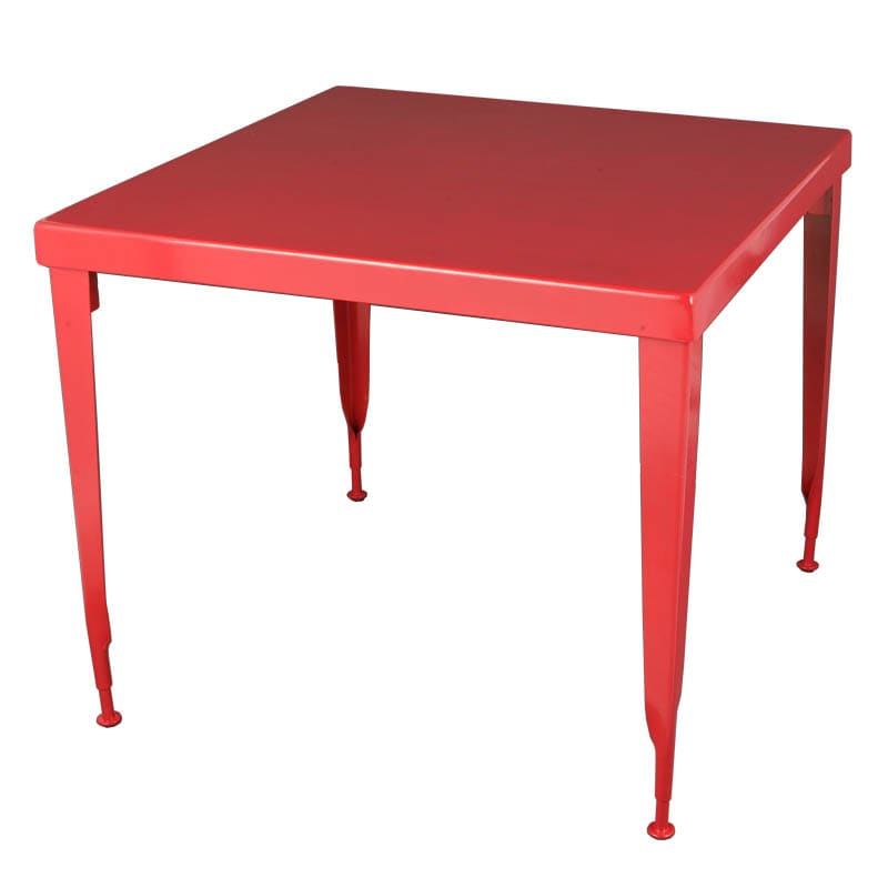 STANDARD SQUARE TABLE  RED