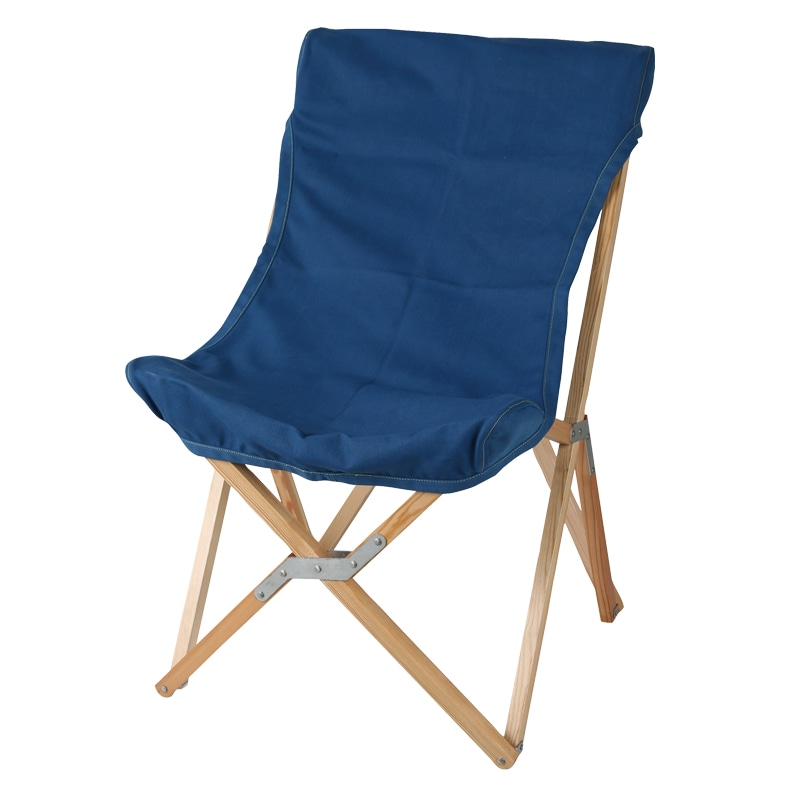 WOODEN BEACH CHAIR NAVY