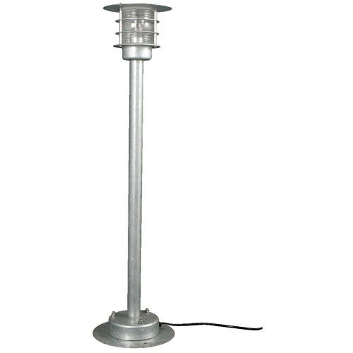 GALVANIZED STAND LAMP