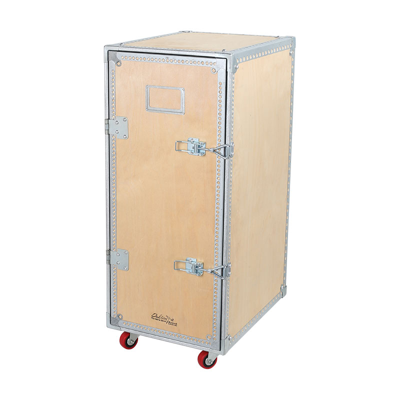 WOODEN CABINET WITH CASTORS 4 LAYER