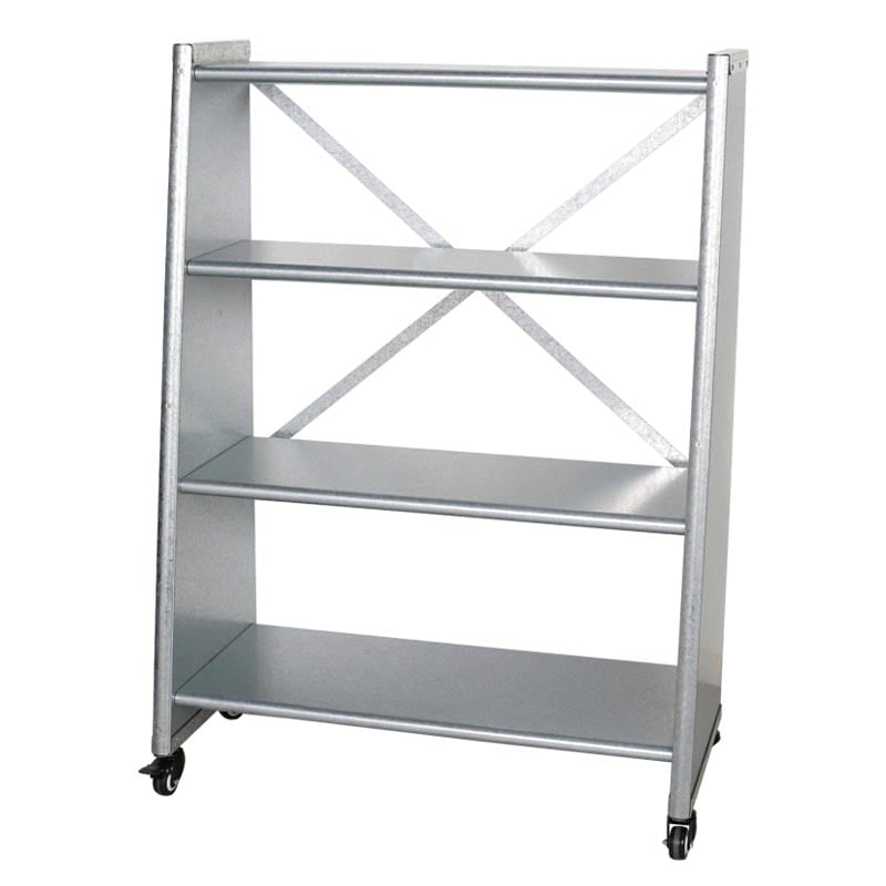 4 TIER TAPERED METAL SHELF GALVANIZED