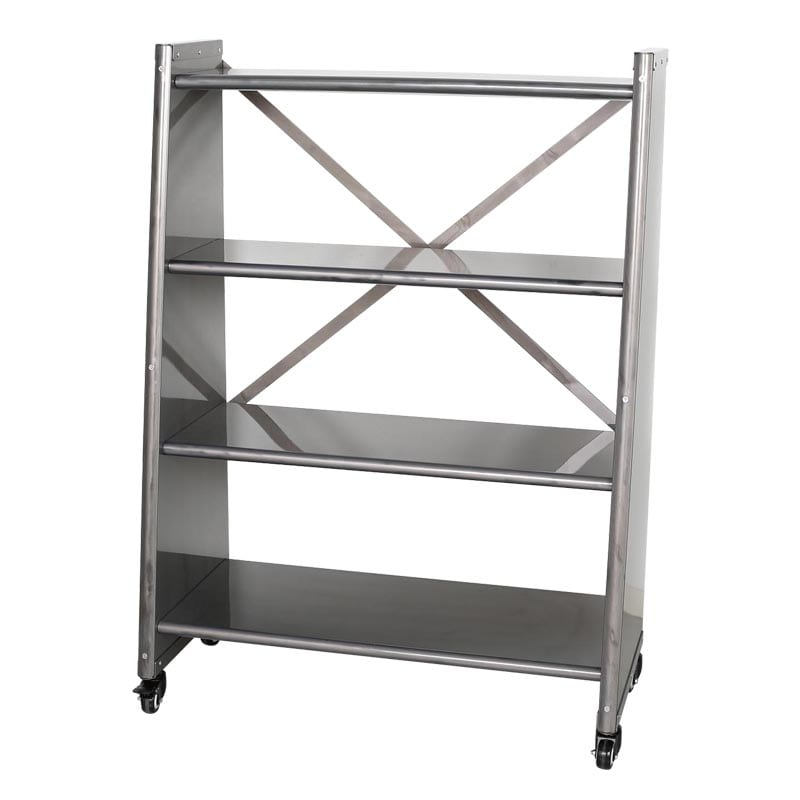 4 TIER TAPERED METAL SHELF RAW