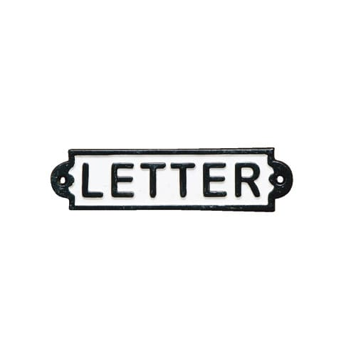 IRON SIGN ''LETTER''