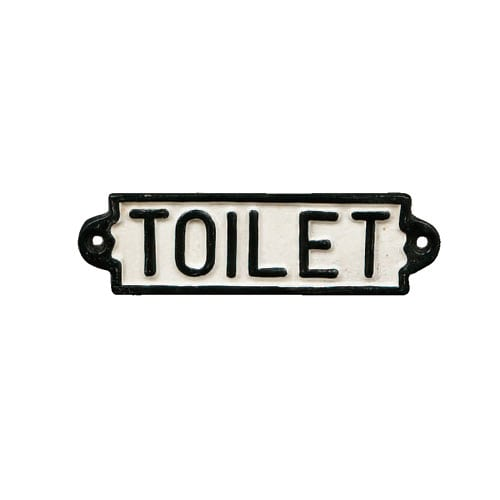 "IRON SIGN ""TOILET"""