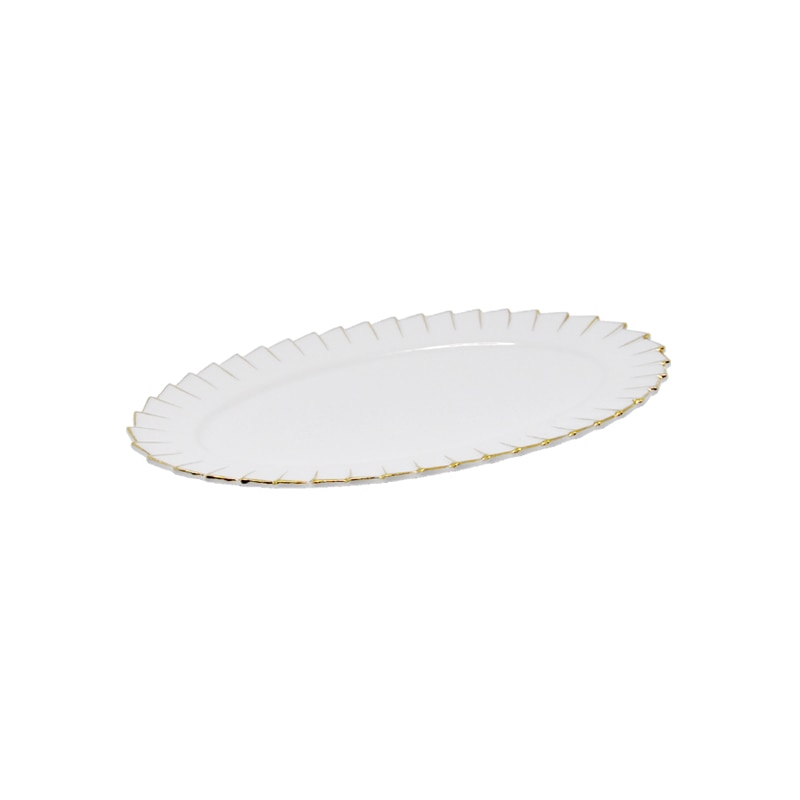 OVAL PLATE ''PLEATS DECOR'' S