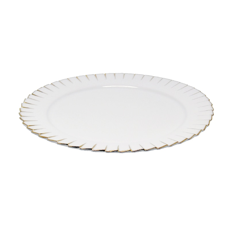 ROUND PLATE ''PLEATS DECOR'' M