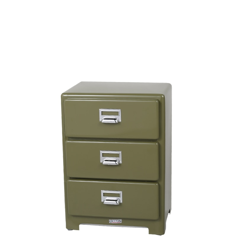 3 DRAWERS CHEST OLIVE
