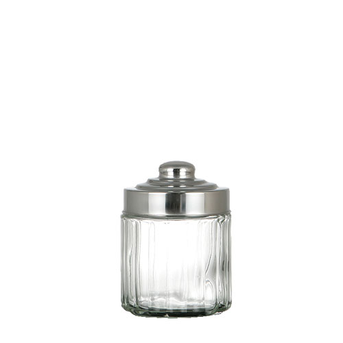 GLASS CANISTER SCREW LID-S