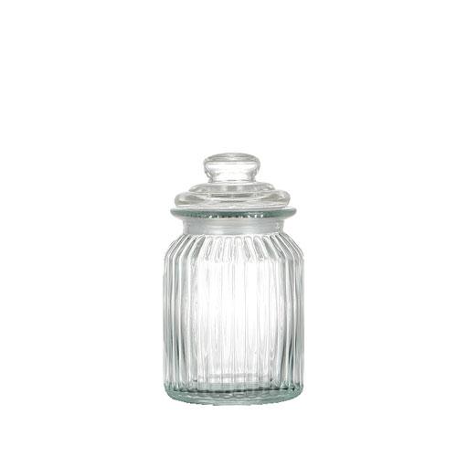 GLASS CANISTER ''PUMPKIN ''M