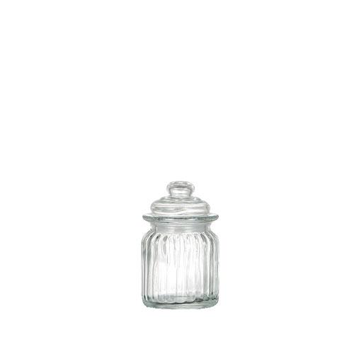 GLASS CANISTER ''PUMPKIN ''XS