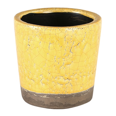 COLOR GLAZED POT YELLOW