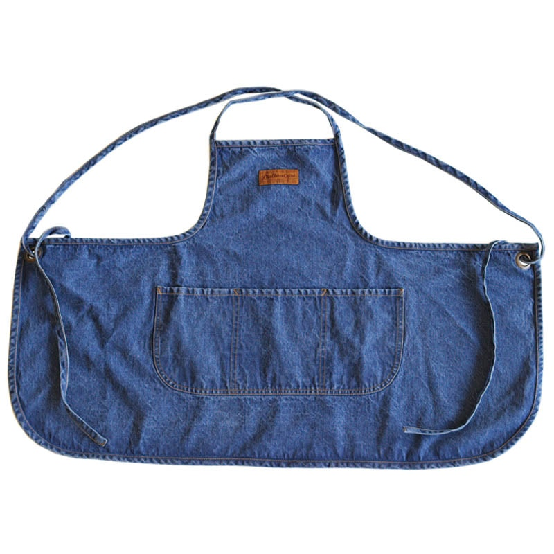 """EM'' APRON WASHED DENIM"