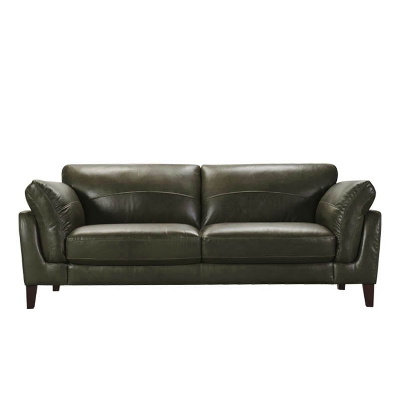 LEATHER SOFA 3 SEATER MOSS GREEN