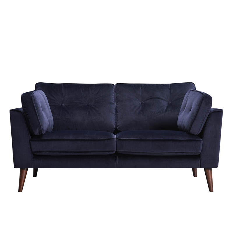 VELVET SOFA 2 SEATER D.BLUE