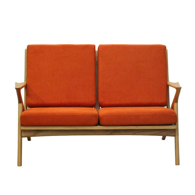 WOOD FRAME SOFA  2ST AZALEA ORANGE