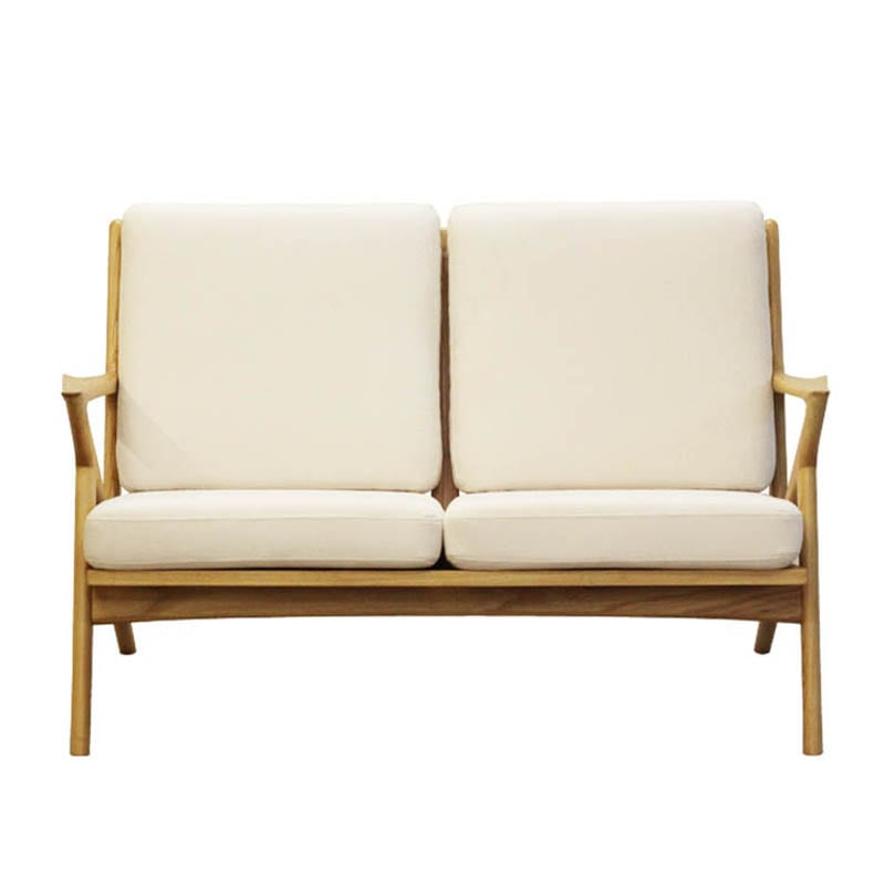 WOOD FRAME SOFA 2ST CORN SILK