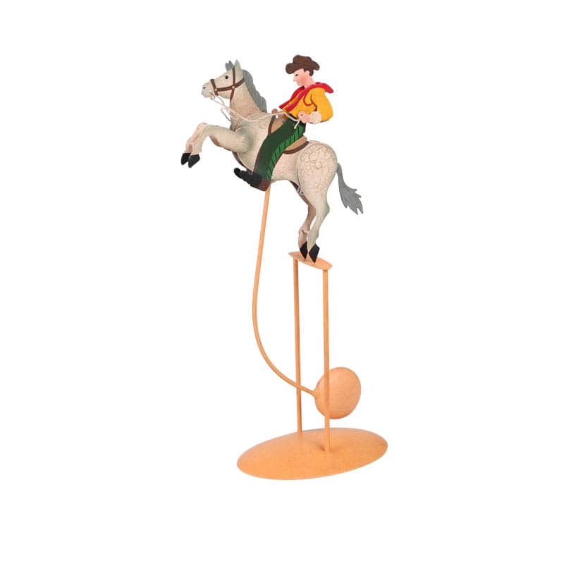 BALANCE ORNAMENT COW BOY
