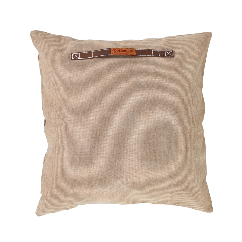 CORDUROY CUSHION 60 BEIGE