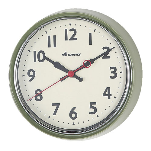 WALL CLOCK SAGE GREEN