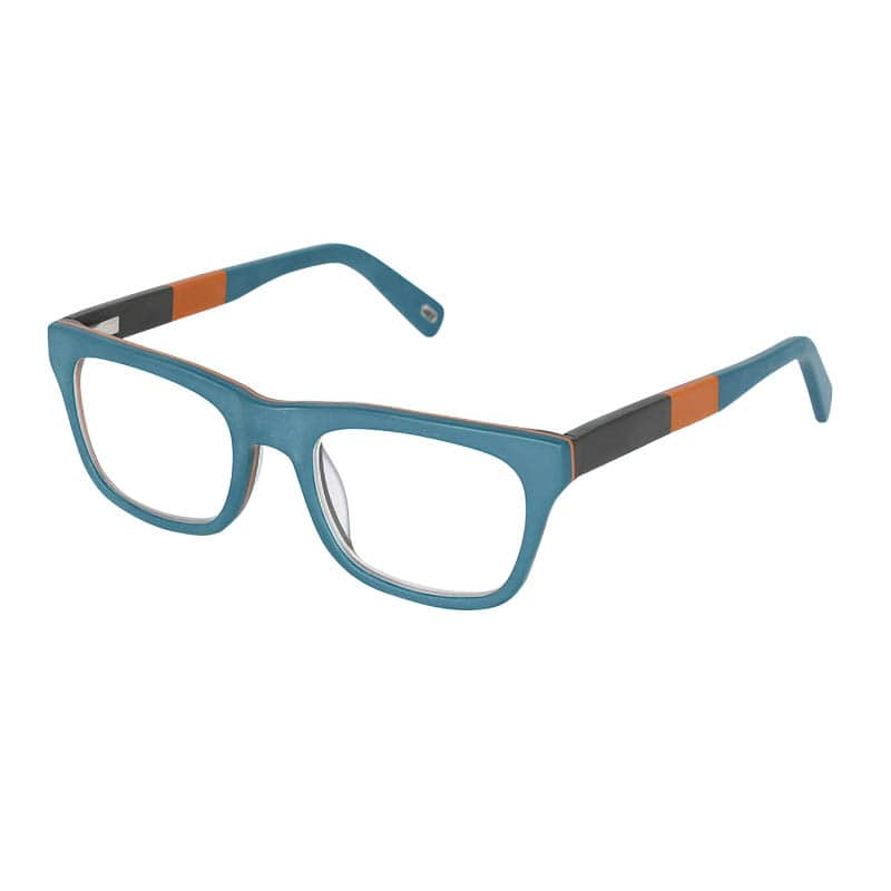 READING GLASSES CORAL BLUE