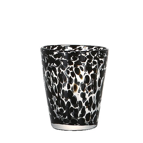 GLASS CUP GENTLEMEN TORTOISE A-BK