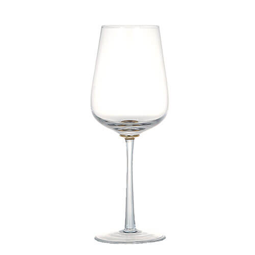 GOLD POINT GLASS  WINE BLUE