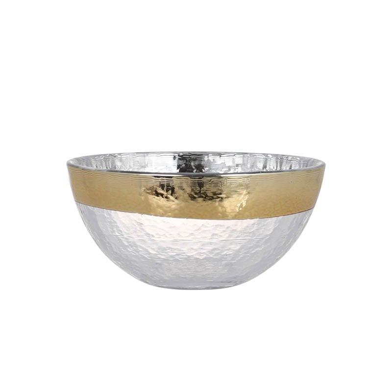 GLASS TABLEWARE OBO GOLD BOWL 130