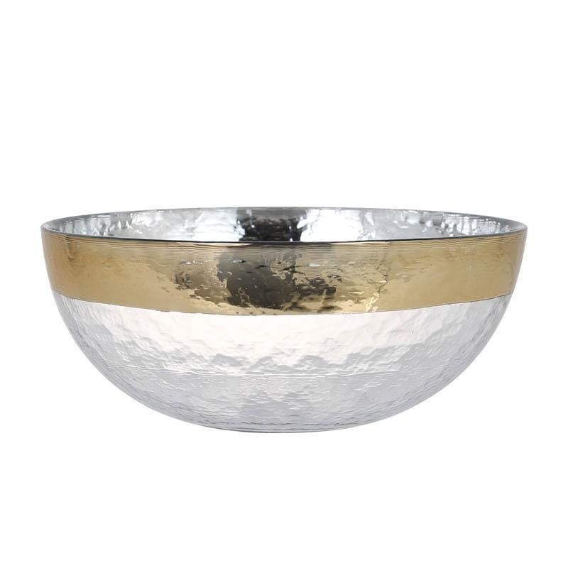 GLASS TABLEWARE OBO GOLD BOWL 205