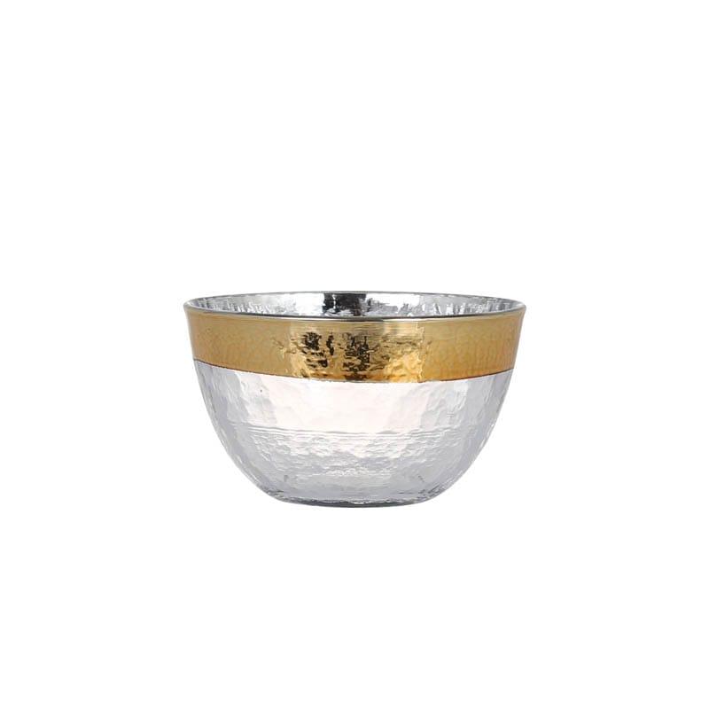GLASS TABLEWARE OBO GOLD BOWL 95