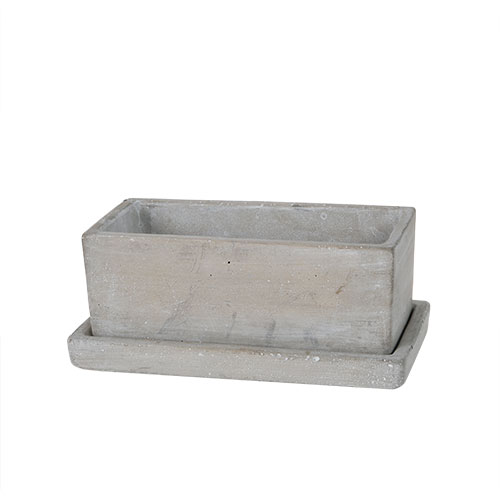 SOLID PLANTER RECTANGLE S PLAIN