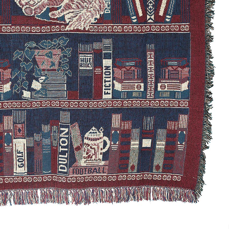JACQUARD THROW ''HUE BOOKS''