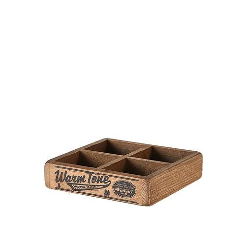 4 PARTITION WOODEN BOX