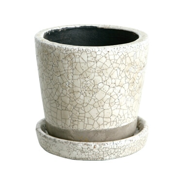 COLOR GLAZED POT IVORY